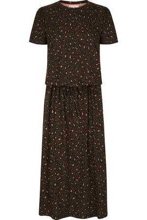 Nooki Madelet Khaki Animal Print Jersey Dress.