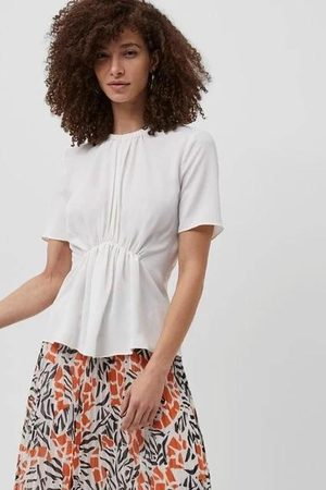 French Connection Emmy Crepe Gathered Top - summer - 72QAE