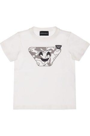 Emporio Armani Boys T-shirts - Printed Cotton Jersey T-shirt