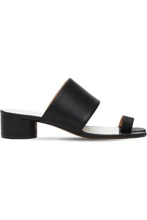 Maison Margiela 30mm Tabi Leather Thong Sandals