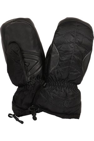 Bogner Selia leather-trimmed ski mittens