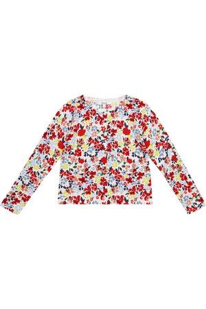 BONPOINT Girls Cardigans - Floral cotton cardigan