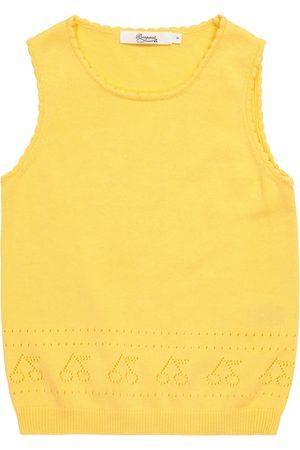 BONPOINT Girls Jumpers - Pointelle cotton sweater vest