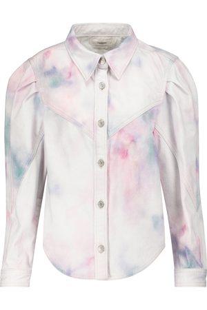 Isabel Marant Women Denim Jackets - Leona tie-dye denim jacket