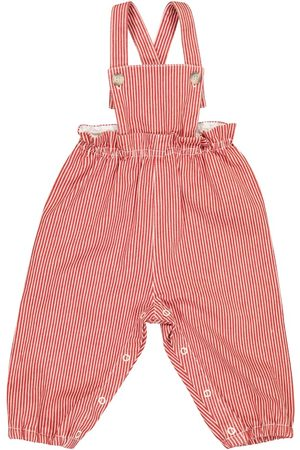 BONPOINT Dungarees - Baby Papaye stretch-cotton overalls