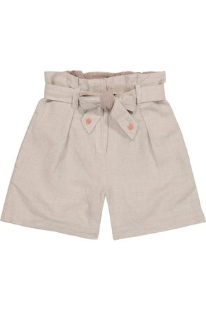 BONPOINT Nath cotton and linen paperbag shorts