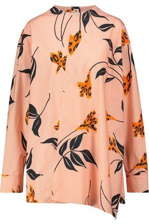 Marni Women Long Sleeve - Floral cotton shirt