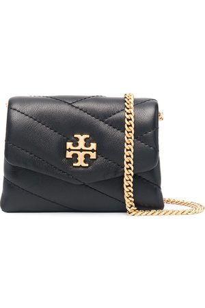 Tory Burch Women Shoulder Bags - Quilted logo-plaque crossbody bag