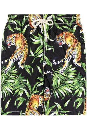 MC2 SAINT BARTH Men Swim Shorts - Tiger-print swim shorts
