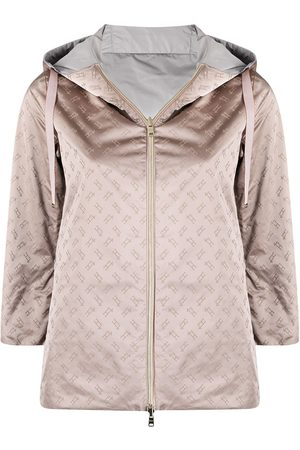 HERNO Women Jackets - Monogram pattern reversible jacket