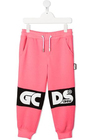 GCDS Logo print tracksuit bottoms