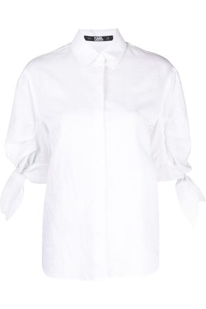Karl Lagerfeld Bow puff-sleeve shirt