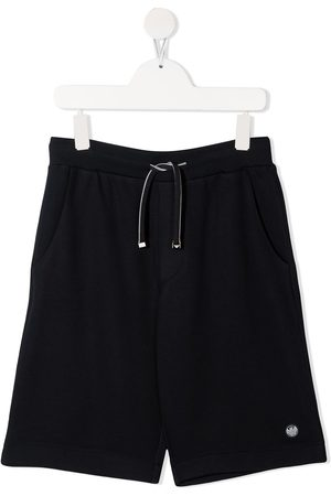Emporio Armani Boys Shorts - Logo-patch knee-length shorts