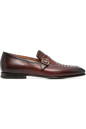 santoni Men Loafers - Woven leather loafers