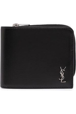 Saint Laurent Men Wallets - YSL plaque zip-around wallet
