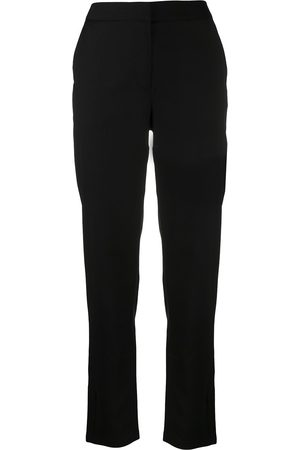 Armani Women Trousers - Logo-patch cropped trousers