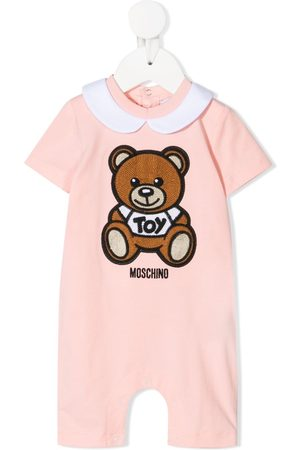 Moschino Baby Rompers - Teddy bear embroidered romper