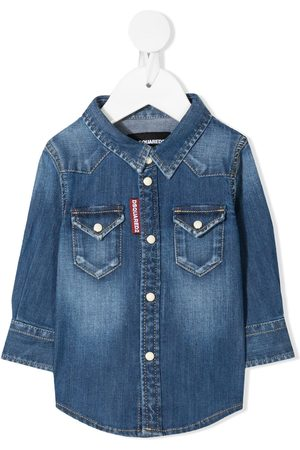 Dsquared2 Long Sleeve - Faded denim shirt