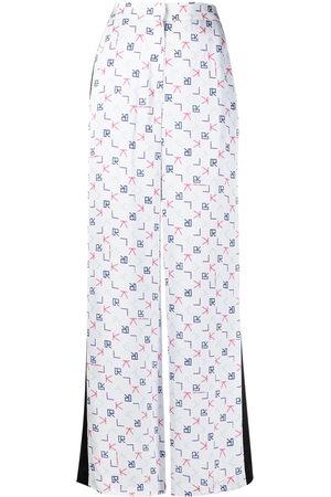Karl Lagerfeld Karl Tetris print tailored trousers
