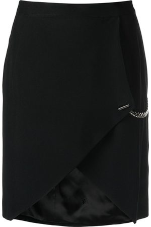 John Richmond Women Skirts - Chain-link detail asymmetric-hem skirt