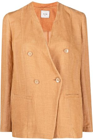 ALYSI Women Blazers - Double-breasted fitted blazer