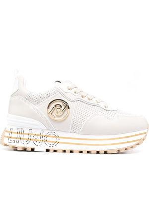 Liu Jo Women Sneakers - Perforated monogram-print trainers