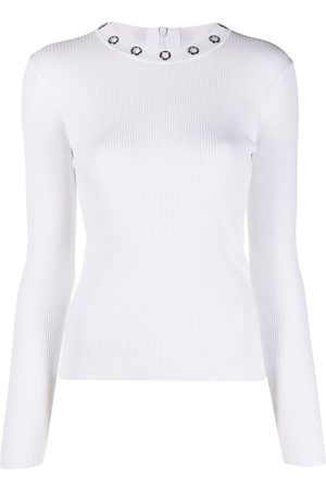 Michael Kors Women Tops - Ribbed eyelet-collar top