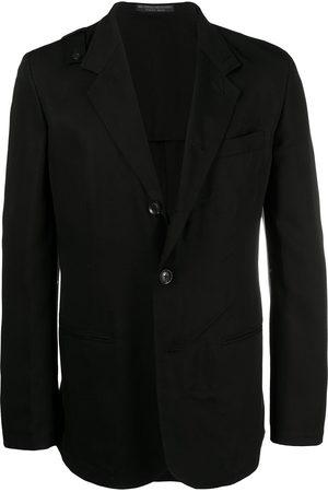 YOHJI YAMAMOTO Men Blazers - Notched-lapel single-breasted jacket