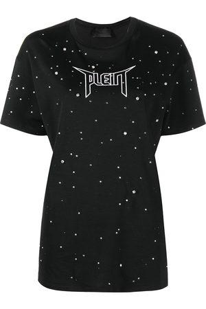 Philipp Plein Women Short Sleeve - Crystal-embellished T-shirt