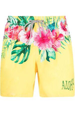 MC2 SAINT BARTH Men Swim Shorts - Hibiscus-print swim shorts