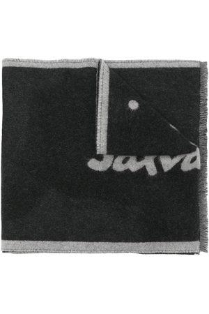 Salvatore Ferragamo Men Scarves - Logo-intarsia wool scarf