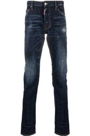 Dsquared2 Men Slim - Distressed-effect high-rise jeans