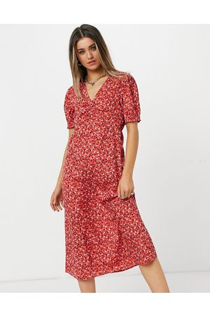 New Look Midi tea dress in ditsy floral
