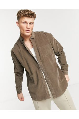 New Look Men Casual - Oversized cord shirt in brown