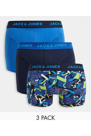 Jack & Jones 3 pack trunks in blue
