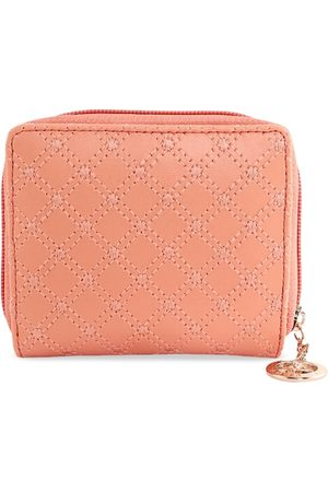 ESBEDA Women Orange Textured Zip Around Wallet