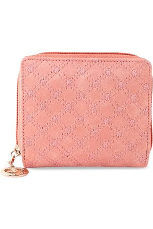 ESBEDA Women Pink Solid Zip Around Wallet