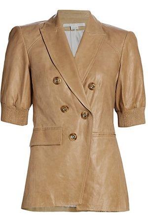 Veronica Beard Women Leather Jackets - Edra Leather Jacket
