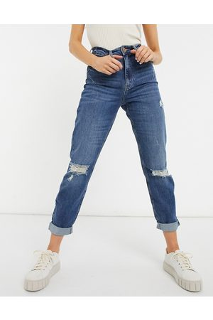River Island 90's high rise jeans in mid authentic