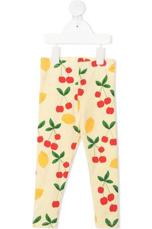 Mini Rodini Lemon and cherry-print leggings