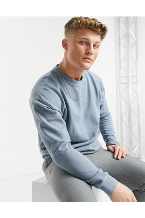 New Look Washed sweat with embroidered NLM print in