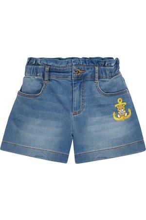 Moschino Kids Stretch-denim shorts