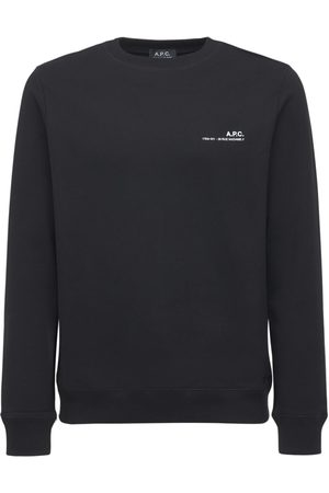 A.P.C. Logo Detail Cotton Jersey Sweatshirt