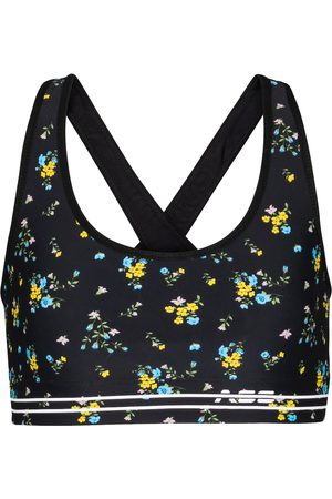 Adam Selman Sport Cross-Back floral sports bra