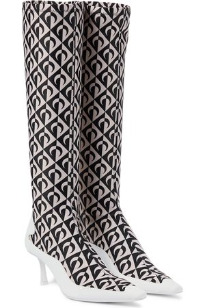 Jimmy Choo Exclusive to Mytheresa – x Marine Serre printed knee-high boots