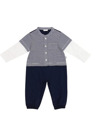 Il gufo Rompers - Baby striped cotton jersey onesie
