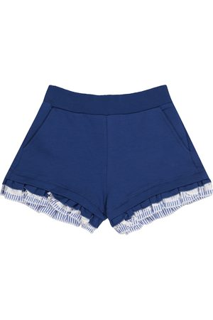 MONNALISA Ruffle-trimmed fleece shorts
