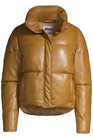 Apparis Jemma Leather-Look Puffer Jacket