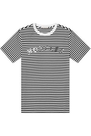 Moncler Striped Logo Tee