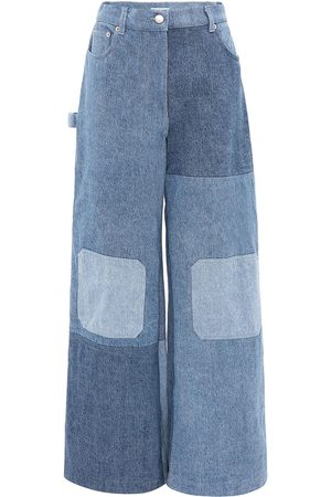 J.W.Anderson Women Bootcut & Flares - Patchwork wide-leg jeans